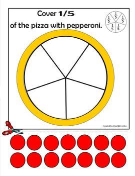 Pizza fractions for task box