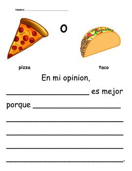 Pizza o taco Opinion