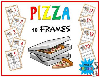 Pizza Themed 10 frames Numbers 1-20 (Inspired by mini erasers!)