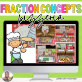 Pizzeria Classroom Transformation Set - Fraction Concepts Centers/ Activities