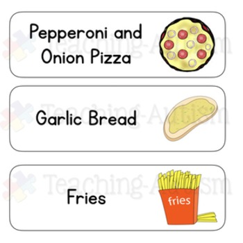 Pizzeria Role Play Packet