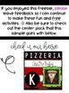 Pizzeria Write The Room Freebie