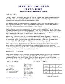 Pkg#4- (TWO-CHARACTER),SCRIPTED IMPROVS, SPEECH UNIT