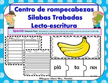 Pl Centro de Silabas Trabadas Grupos Consonanticos StationsBilingual Mrs.Partida
