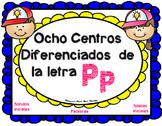 Centros de la letra P p Lectoescritura Sonidos Silabas Pp Alphabet Centers