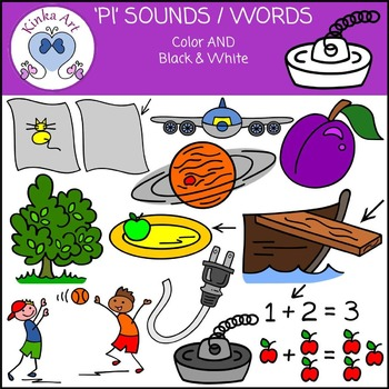 Pl Sounds / Words: Beginning Sounds Clip Art