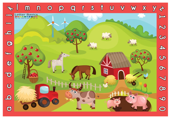 Place Mat - Farm - Red