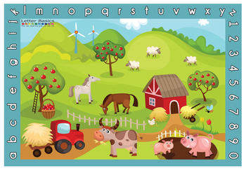 Place Mat - Farm - Blue