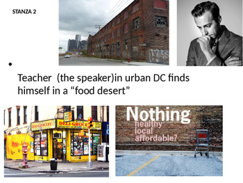 Place Matters Visual Poem about Food Deserts