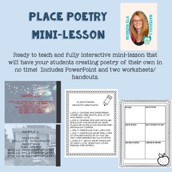 Place Poety Mini-Lesson