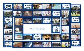 Place Prepositions Legal Size Photo Board Game