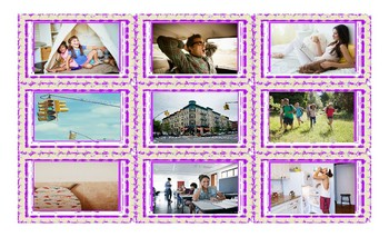 Place Prepositions Legal Size Photo Card Game