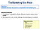 Place - The Marketing Mix - 4 P's - E-Commerce & Distribut