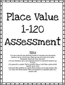 Place Value 1-120 Assessment