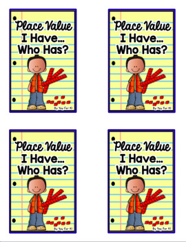 """Place Value #1-20 """"I Have...Who Has?""""  Class Game"""