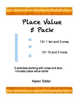 Place Value 1 Bundle- ones and tens