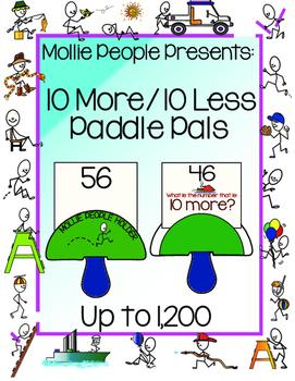 Place Value 10 More / 10 Less Paddle Pals!