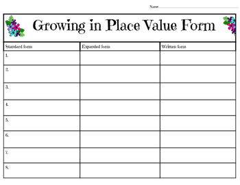 Place Value 100 -100,000 puzzle