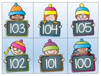 Place Value {100-120} Winter Theme FREEBIE
