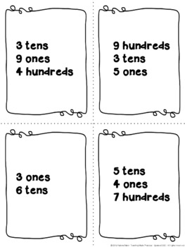 Place Value Centers: 120 Cards to Practice Expanded Form, Written Form, and More