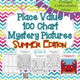 Place Value 100 Chart Mystery Picture - Summer Edition