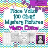 Place Value 100 Chart Mystery Picture - Winter Edition