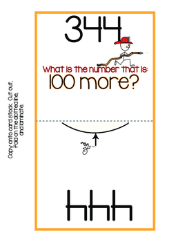 Place Value: 100 More/100 Less Paddle Pals!