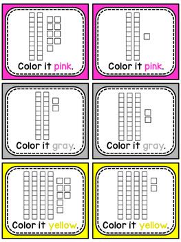 Place Value 100 Chart Puzzle Math Center (Cat)