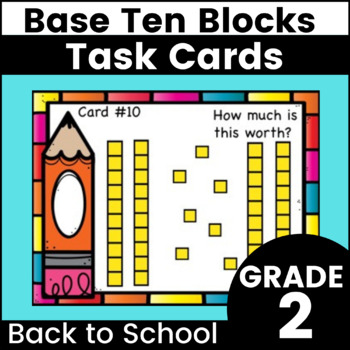 Place Value - 10s and 1s Base Ten Task Cards - Grades 1-2