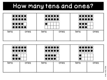 Place Value worksheets 11-19 (tens and ones)