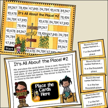 Place Value Games 3rd, 4th Grades Standard & Word Form, Expanded, Find the Place