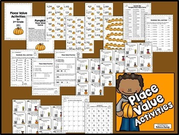 Place Value (Pumpkin Themed) for Second Graders