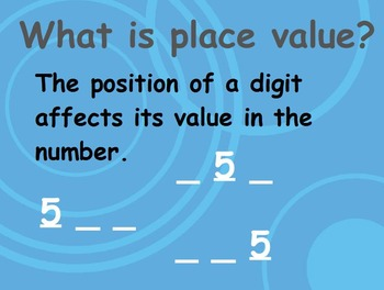 Place Value (worksheet included)
