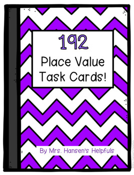 Place Value 192 task cards