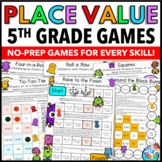 5th Grade Math Centers: 5th Grade Place Value Games {5.NBT.1, 5.NBT.2}
