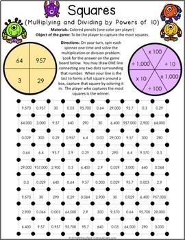 5th Grade Math Centers: 5th Grade Place Value Games {5.NBT.1, 5.NBT.2}