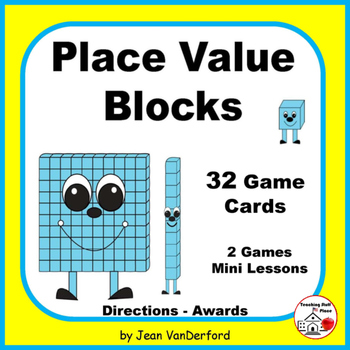 Base Ten Blocks | PLACE VALUE | MATH Game Task Cards | Mini Lesson, Grades 1-2