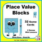 Base Ten Blocks  PLACE VALUE  MATH Game Task Cards,  Mini Lesson Grades 1-2