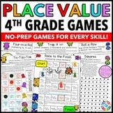 4th Grade Place Value Games for 4.NBT.1, 4.NBT.2, and 4.NBT.3