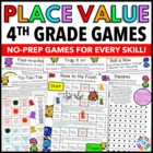 4th Grade Math Centers: 4th Grade Place Value Games (4.NBT.1, 4.NBT.2, 4.NBT.3)