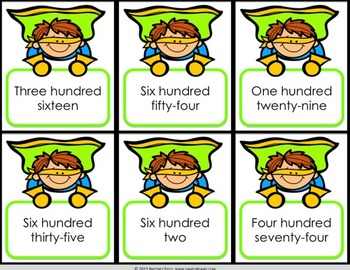 2nd Grade Place Value Game: Read Three-Digit Numbers {2.NBT.1, 2.NBT.3}