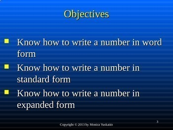 Common Core 3rd - Place Value 2 - Writing Numbers in Standard, Expanded & Word