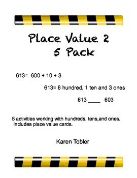 Place Value 2 Bundle- hundreds, tens, ones