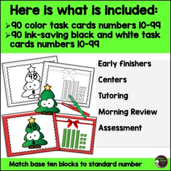 Place Value  2-Digit Match-Up Game: Christmas