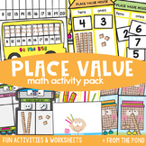 Place Value 2 Digit Math Activities Pack