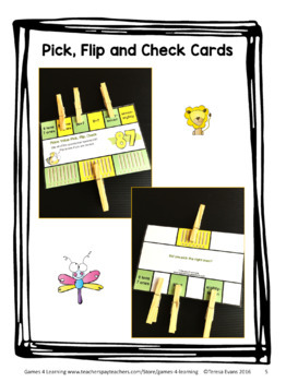 Place Value Activity - 2 Digit Numbers Freebie Place Value Clip Cards