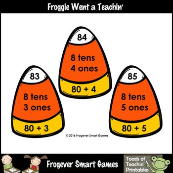 """Place Value--2 Digit Numbers /Tens and Ones/Expanded Notation """"Trick or Treat"""""""