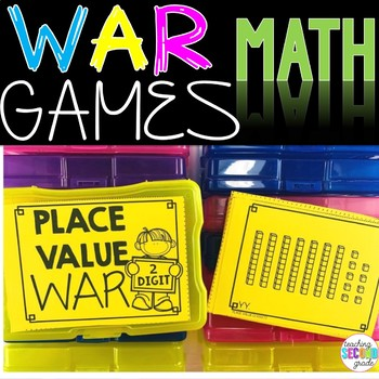 Place Value 2 Digit War Math Game
