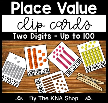 Place Value 2 Digits Up to 100 - Clip Cards