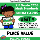 UNIT 4 Place Value 2.NBT.A BOOM Cards | 2nd Grade Math | BUNDLE
